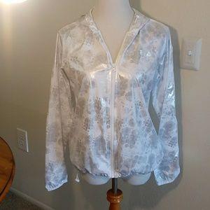 Flia sport jacket size small white & silver